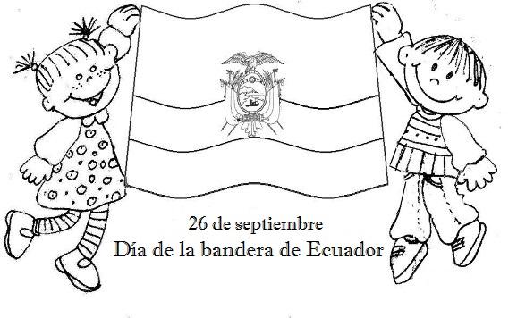 Bandera del Ecuador para colorear día de la bandera