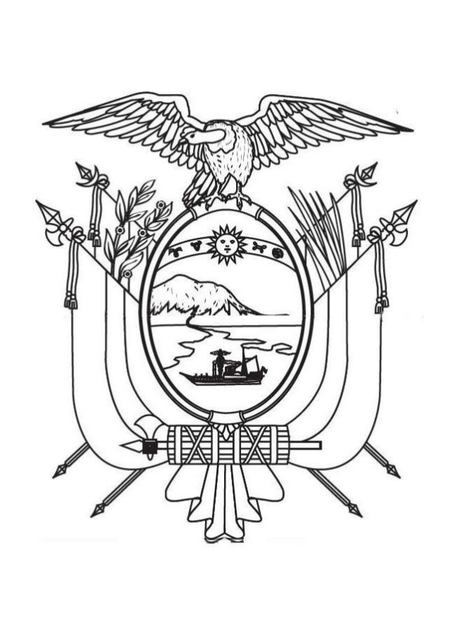 Escudo de Ecuador para colorear